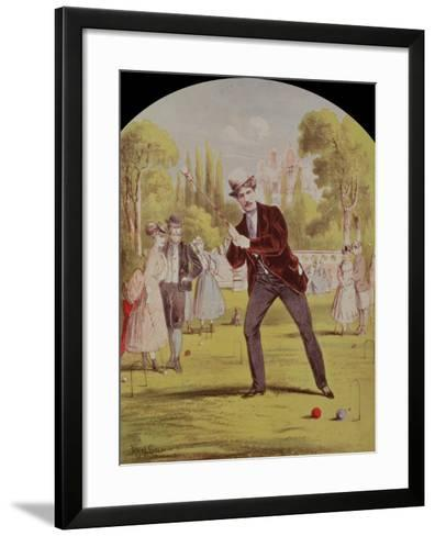 Song Sheet Cover with Print of Croquet, Edwardian--Framed Art Print