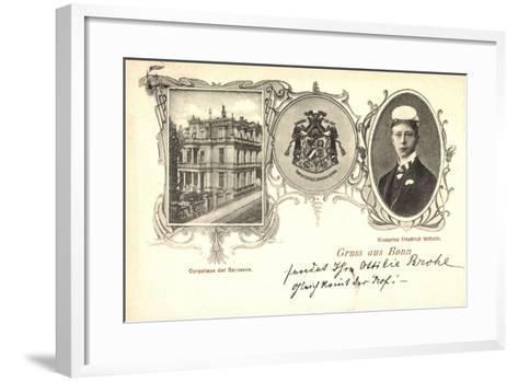Bonn, Corpshaus Der Borussen, Kronprinz Fr. Wilhelm--Framed Art Print