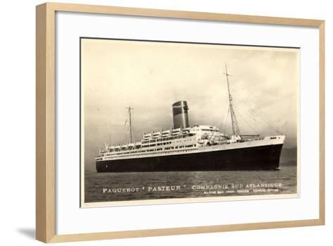 Compagnie Navigation Sud Atlantique,Paquebot Pasteur--Framed Art Print