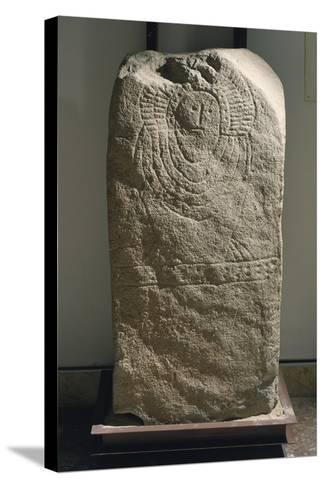 Granite Idol known as Stele of Granja De Toninuelo, from Jerez De Los Caballeros, Badajoz--Stretched Canvas Print
