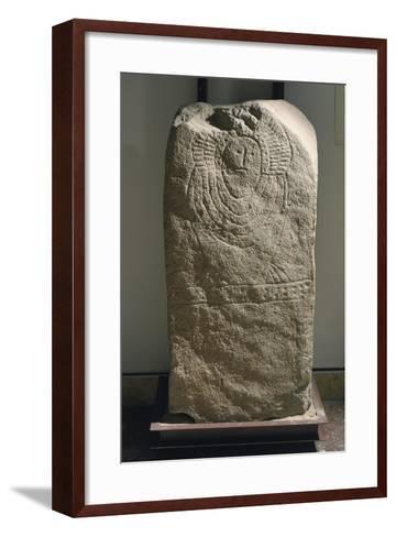 Granite Idol known as Stele of Granja De Toninuelo, from Jerez De Los Caballeros, Badajoz--Framed Art Print