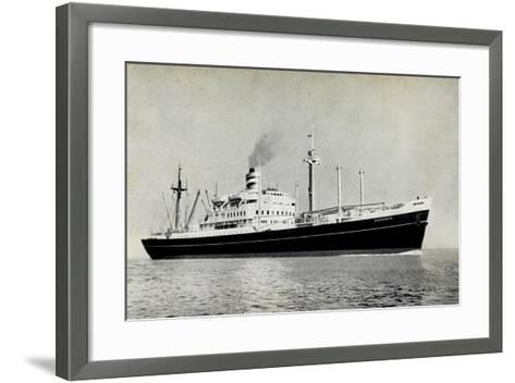 Dampfer S.S. Diemerdyk, Holland America Line--Framed Art Print