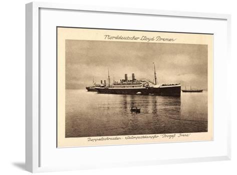Postdampfer Prinzeß Irene,Norddeutscher Lloyd Bremen--Framed Art Print