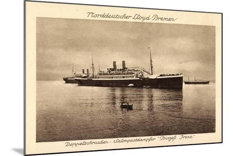 Postdampfer Prinzeß Irene,Norddeutscher Lloyd Bremen--Mounted Giclee Print