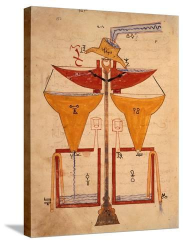 Miniature from the Book of Knowledge of Ingenious Mechanical Devices by Al-Jazari, Turkey 1203--Stretched Canvas Print