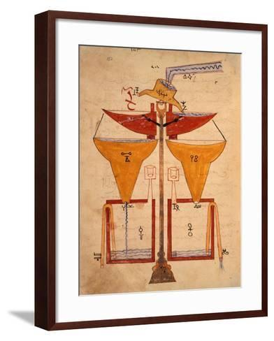 Miniature from the Book of Knowledge of Ingenious Mechanical Devices by Al-Jazari, Turkey 1203--Framed Art Print