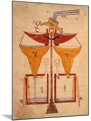 Miniature from the Book of Knowledge of Ingenious Mechanical Devices by Al-Jazari, Turkey 1203--Mounted Giclee Print