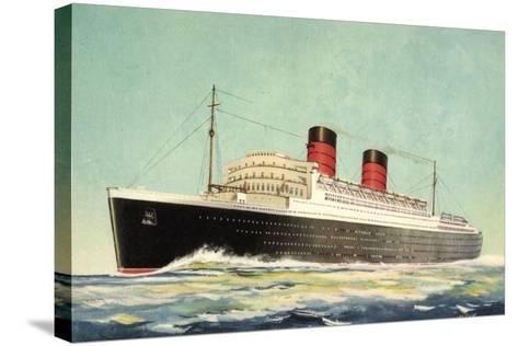 K?nstler Cunard White Star, Steamer Mauretania--Stretched Canvas Print