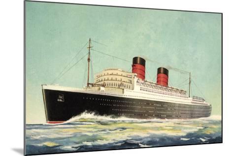 K?nstler Cunard White Star, Steamer Mauretania--Mounted Giclee Print