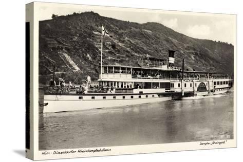Dampfer Rheingold, FlUSS Rhein, K?ln D?sseldorf--Stretched Canvas Print