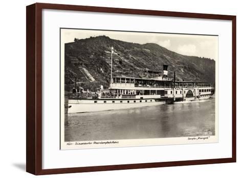 Dampfer Rheingold, FlUSS Rhein, K?ln D?sseldorf--Framed Art Print