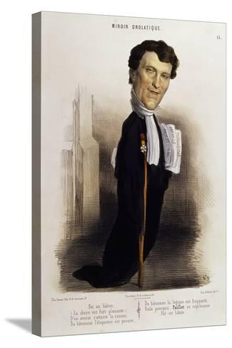 Caricature of Lawyer Paillet, Marie Capelle Lafarge's Defender, Circa 1845--Stretched Canvas Print