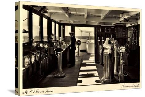 Dampfschiff Monte Rosa, HSDG, Kommandobrücke--Stretched Canvas Print