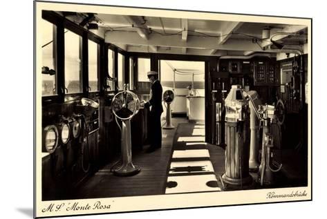 Dampfschiff Monte Rosa, HSDG, Kommandobrücke--Mounted Giclee Print