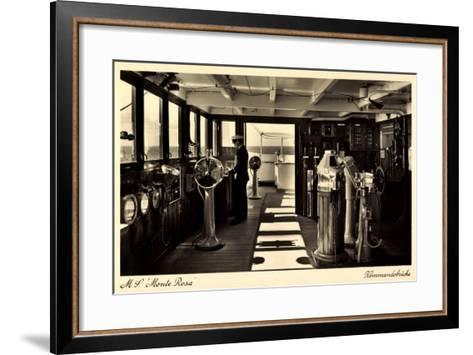 Dampfschiff Monte Rosa, HSDG, Kommandobrücke--Framed Art Print