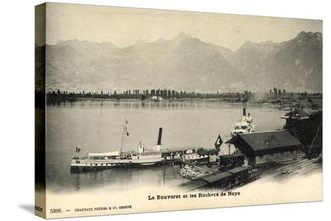 Le Bouveret Port Valais Kt. Waadt, Dampfer Simplon--Stretched Canvas Print
