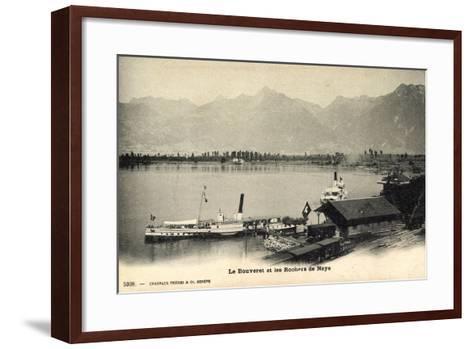 Le Bouveret Port Valais Kt. Waadt, Dampfer Simplon--Framed Art Print