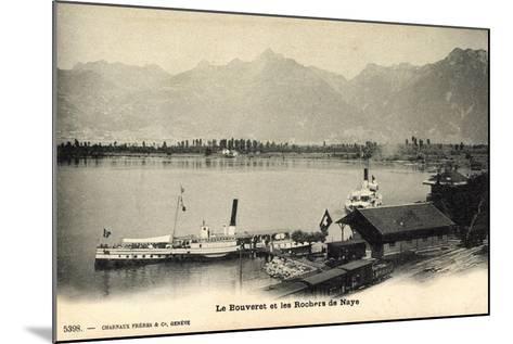 Le Bouveret Port Valais Kt. Waadt, Dampfer Simplon--Mounted Giclee Print