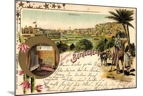 Litho Bethlehem Israel, Kaiserreise 1898, Kamele, Ort--Mounted Giclee Print