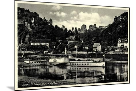 Kurtort Rathen, Dampfschiff Leipzig, Rosengarten--Mounted Giclee Print