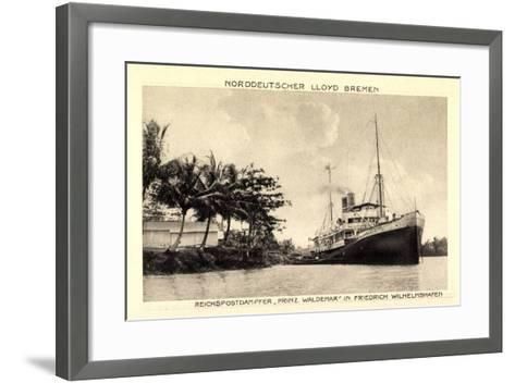 Norddeutscher Lloyd Bremen, Dampfer Prinz Waldemar--Framed Art Print