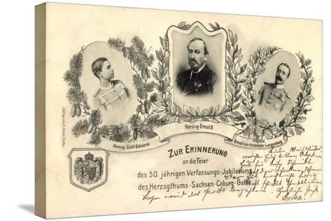 50 J?hr, Verfassungs Jubil?um, Sachsen Coburg Gotha--Stretched Canvas Print