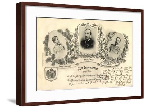 50 J?hr, Verfassungs Jubil?um, Sachsen Coburg Gotha--Framed Art Print