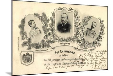 50 J?hr, Verfassungs Jubil?um, Sachsen Coburg Gotha--Mounted Giclee Print