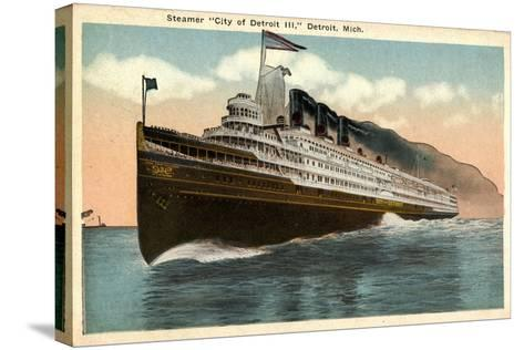 Steamer City of Detroit Iii, Detroit Michigan--Stretched Canvas Print