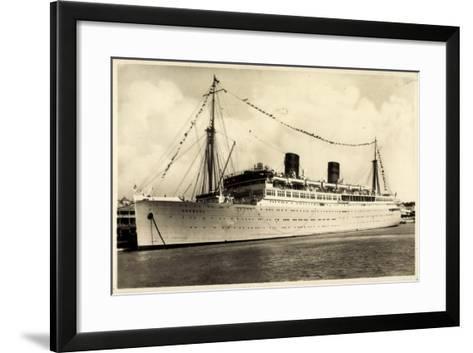 Furness, Withy and Co, Dampfschiff Bermuda Vor Anker--Framed Art Print