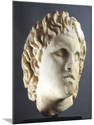 Head of Alexander Sculpture from Pella, Greece BC--Mounted Giclee Print