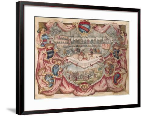 Bologna: Autopsy in the Anatomical Theatre, in the Archiginnasio--Framed Art Print