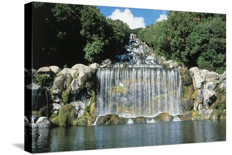 Italy, Campania Region, Caserta Province, Caserta, Royal Palace, Waterfall--Stretched Canvas Print