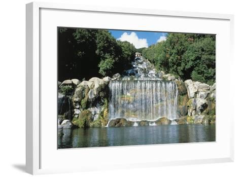 Italy, Campania Region, Caserta Province, Caserta, Royal Palace, Waterfall--Framed Art Print