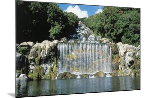Italy, Campania Region, Caserta Province, Caserta, Royal Palace, Waterfall--Mounted Giclee Print