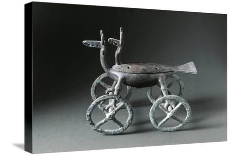 Little Container with Wheels Used to Burn Essences, in the Shape of a Deer--Stretched Canvas Print