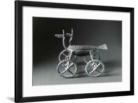 Little Container with Wheels Used to Burn Essences, in the Shape of a Deer--Framed Art Print