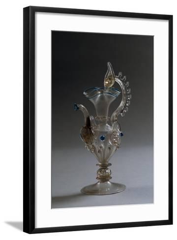 Glass Crested Vase, Italy--Framed Art Print