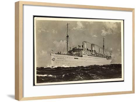 Norddeutscher Lloyd Bremen, Dampfer Der Deutsche--Framed Art Print