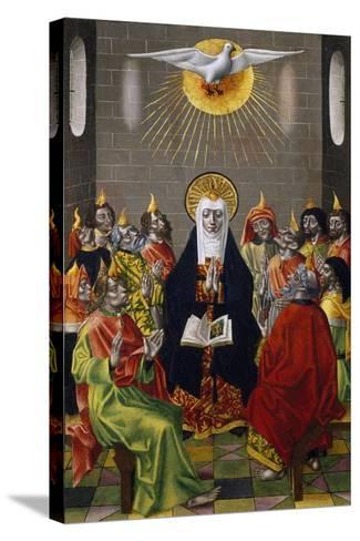 Pentecost, Ca 1450--Stretched Canvas Print