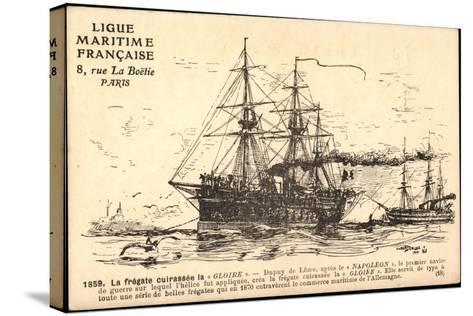 Künstler Segelschiff, Frégate Cuirassée La Gloire--Stretched Canvas Print
