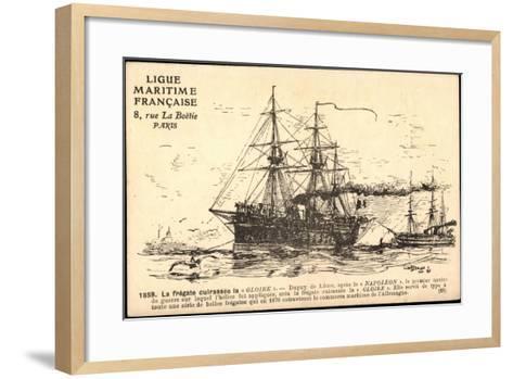Künstler Segelschiff, Frégate Cuirassée La Gloire--Framed Art Print