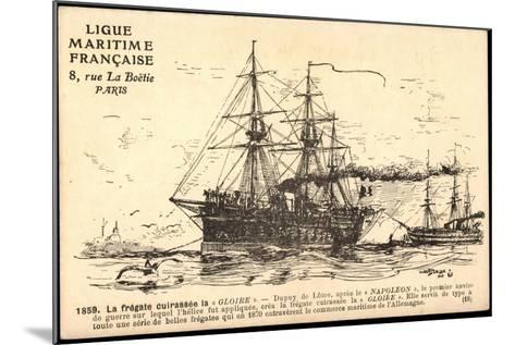 Künstler Segelschiff, Frégate Cuirassée La Gloire--Mounted Giclee Print