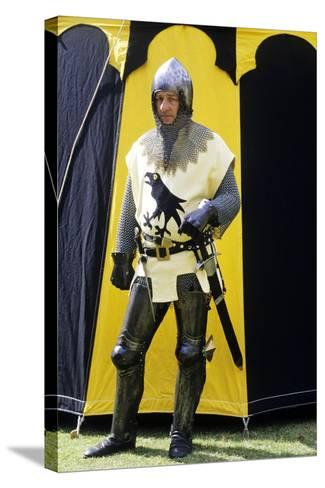 Historical Re-Enactment, Medieval Knight, Armour 14th Century--Stretched Canvas Print