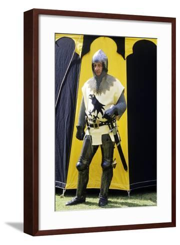 Historical Re-Enactment, Medieval Knight, Armour 14th Century--Framed Art Print