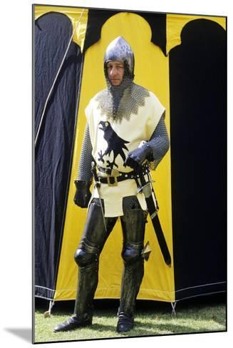 Historical Re-Enactment, Medieval Knight, Armour 14th Century--Mounted Giclee Print