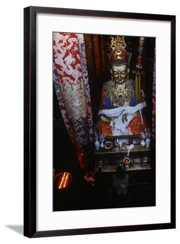 China, Tibet, Lhasa, Statue of Padmasambhava in Jokhang Temple--Framed Art Print