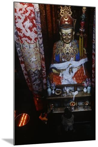China, Tibet, Lhasa, Statue of Padmasambhava in Jokhang Temple--Mounted Giclee Print
