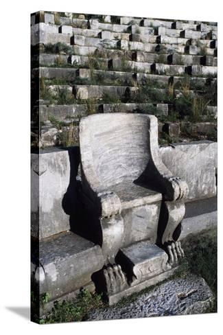 Theatre in Priene, Turkey--Stretched Canvas Print