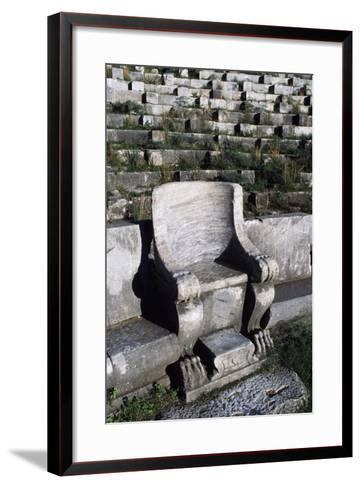 Theatre in Priene, Turkey--Framed Art Print
